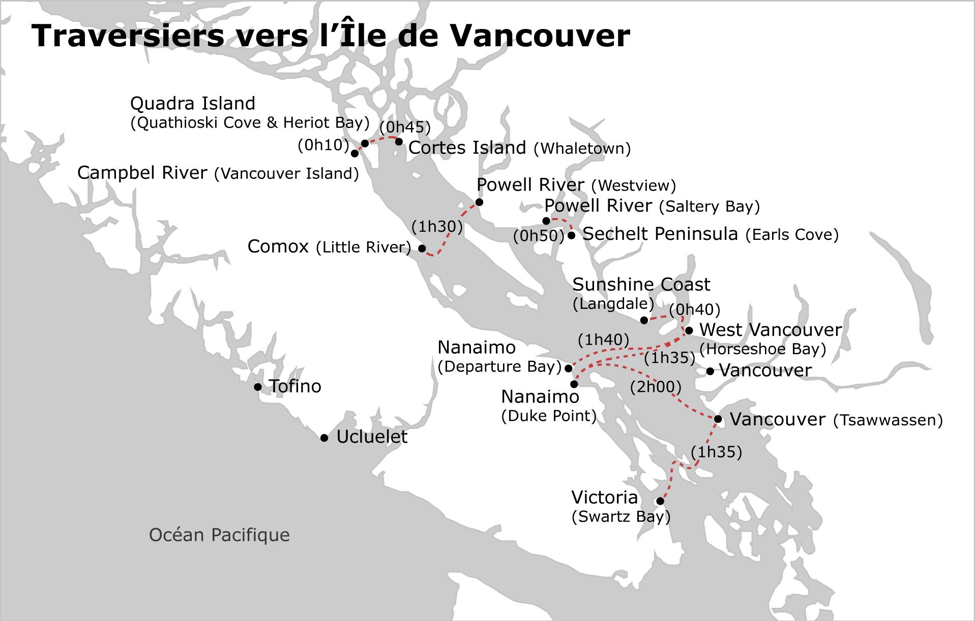 Traversiers vers l'Île de Vancouver