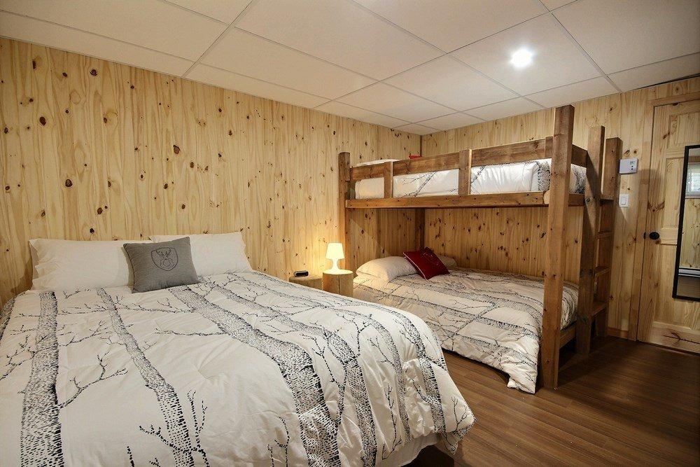 Chalet en bois rond L'Aigle-Noir - Chambre