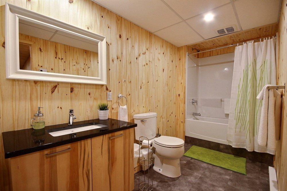 Chalet en bois rond L'Aigle-Noir - Salle de bain
