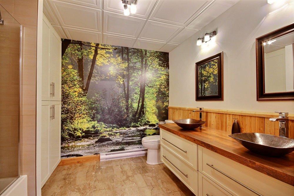 Chalet en bois rond Le Chasse-Galerie - Salle de bain-1