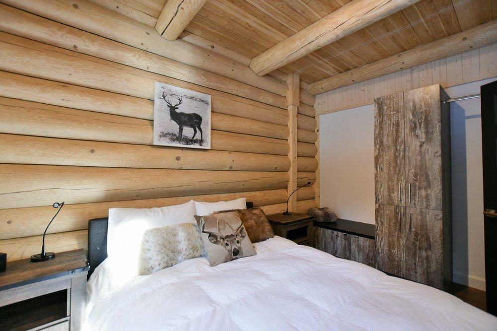 Chalet en bois rond Le Panache - Chambre-1