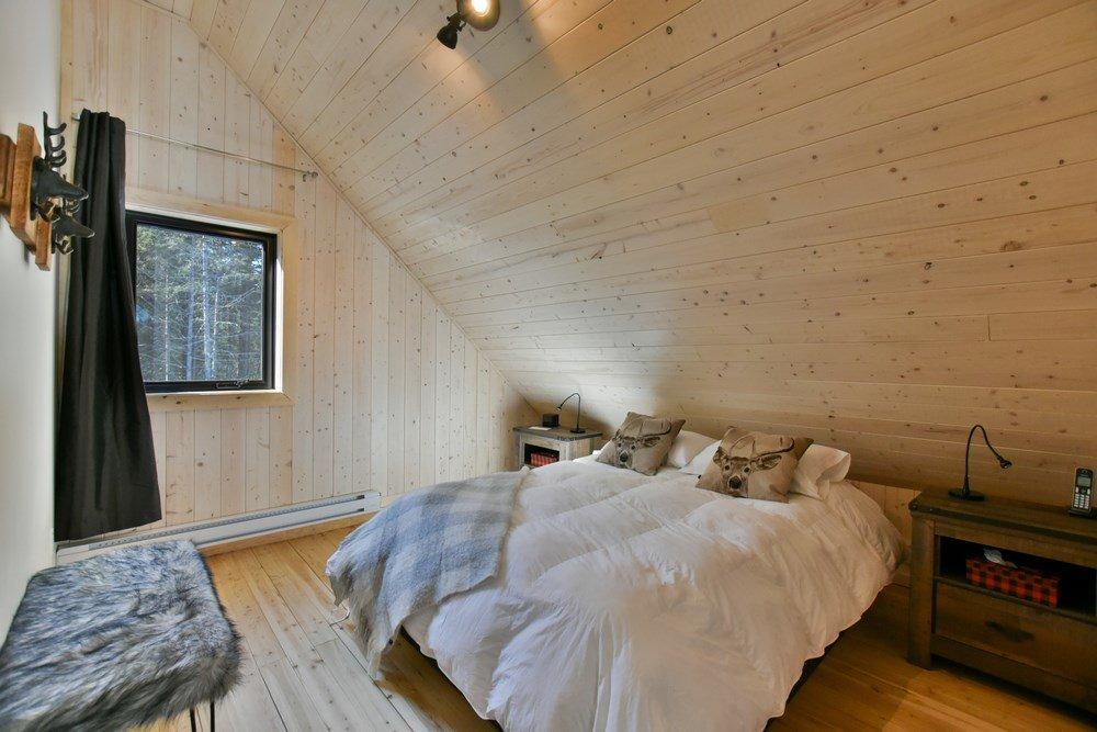 Chalet en bois rond Le Panache - Chambre-2