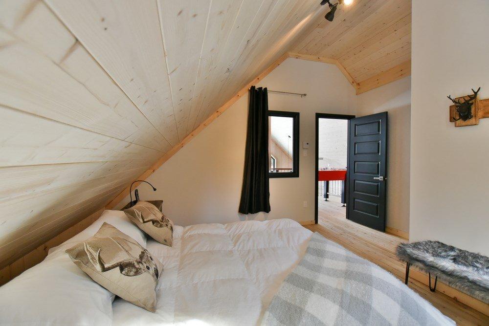 Chalet en bois rond Le Panache - Chambre-3