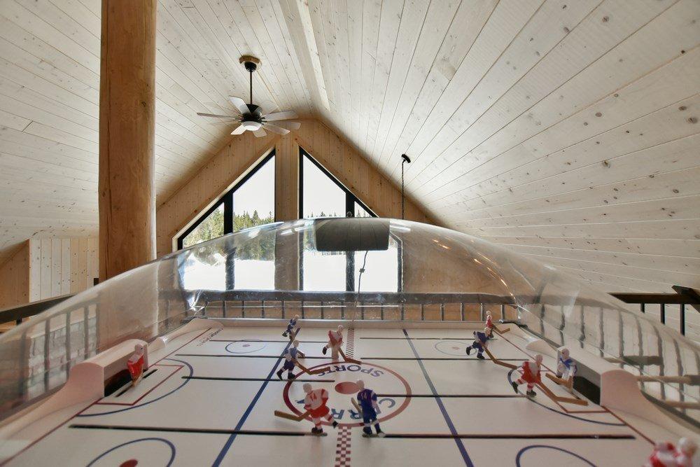 Chalet en bois rond Le Panache - Hockey sur table