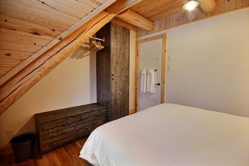 Chalet en bois rond Le Perce-Neige - Chambre 2