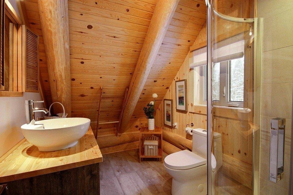 Chalet en bois rond Le Perce-Neige - Salle de bain 3