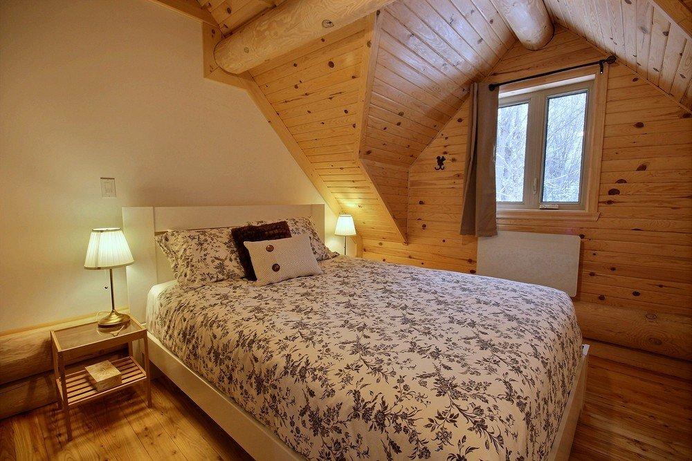 Chalet en bois rond Le Perce-Neige - Chambre 3