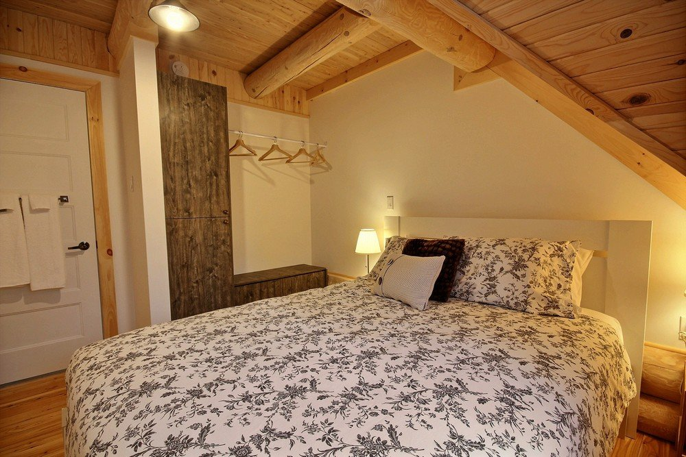 Chalet en bois rond Le Perce-Neige - Chambre 4