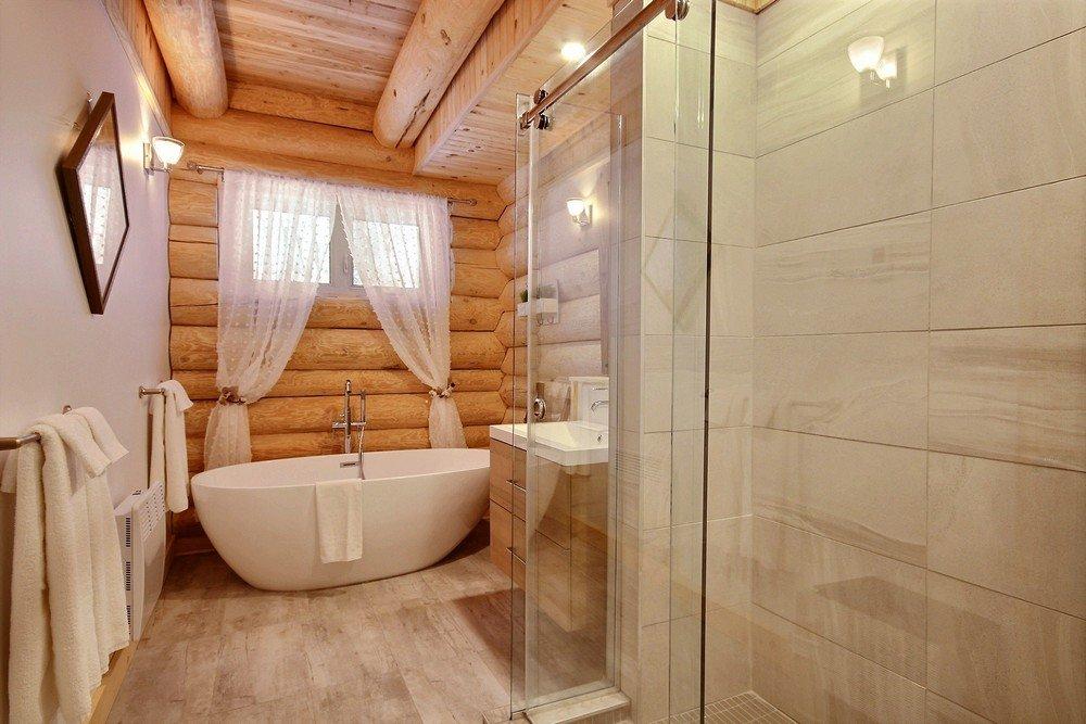 Chalet en bois rond Le Perce-Neige - Salle de bain 1