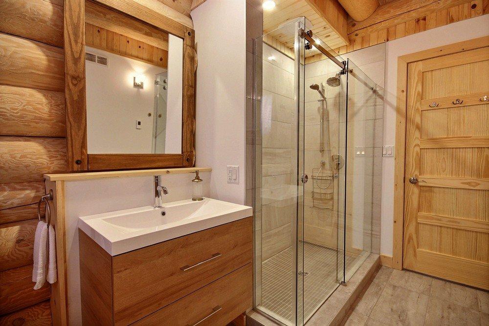 Chalet en bois rond Le Perce-Neige - Salle de bain 2