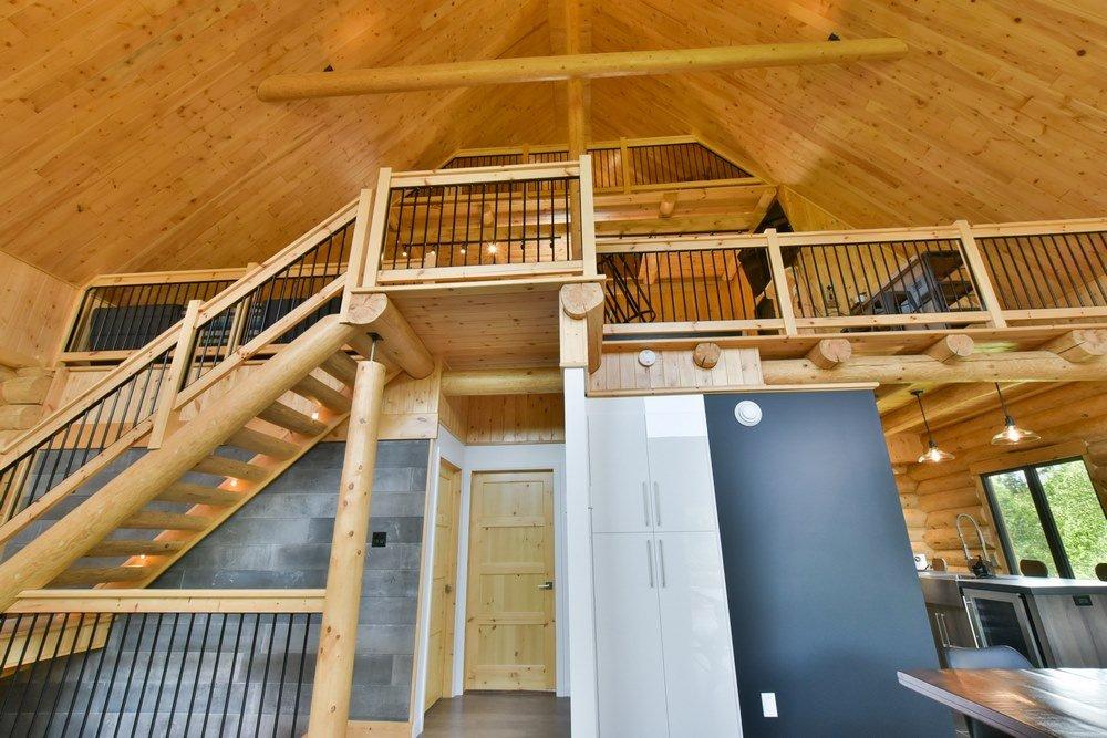 Chalet en bois rond Le Perséides - 3e étage