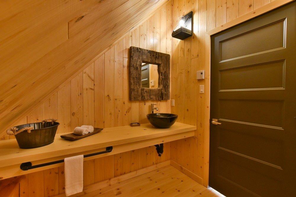 Chalet en bois rond Le Perséides - Salle de bain-3
