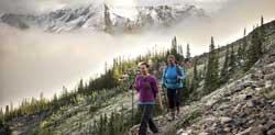 Randonnée dans le parc de Banff