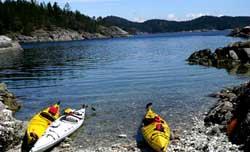 Kayak in Quadra Island, BC