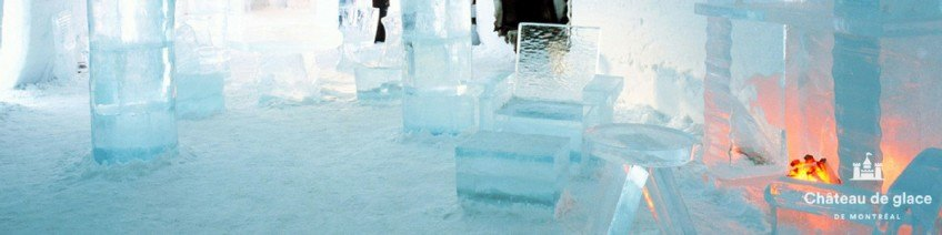 Un château de glace à Montréal ouvert à l'année