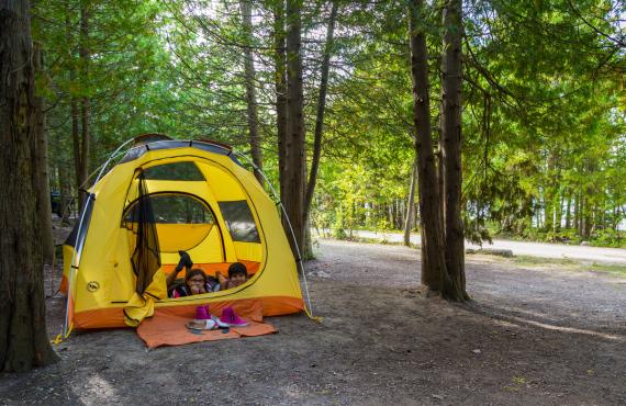 Camping Cyprus Lake, Péninsule de Bruce, Ontario