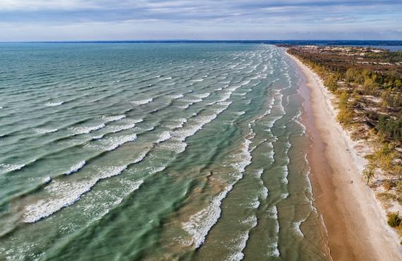 Sandbanks, aerial beach
