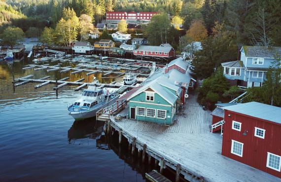 Aerial View, Telegraph Cove, BC