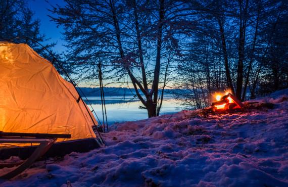 Camping hivernal