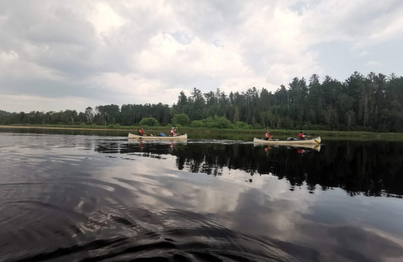 Explore the national park by canoe
