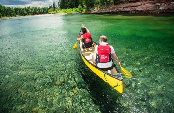 Canoeing on the Bonaventure River