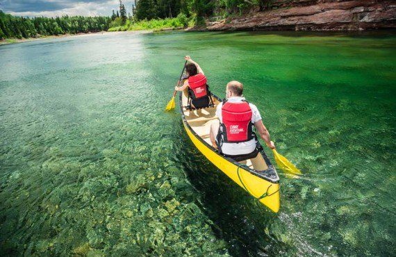 Canoeing on the Bonaventure River