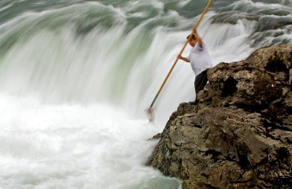 Moricetown Canyon and traditional fishing, © National Geographic