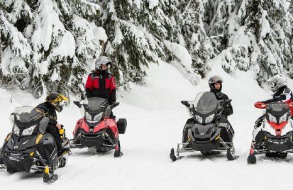 Randonnée en motoneige dans la Vallée-Bras-du-Nord