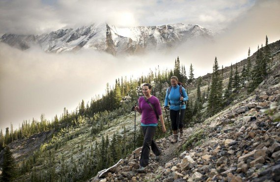 Hiking on Skoki Mountain, Banff National Park