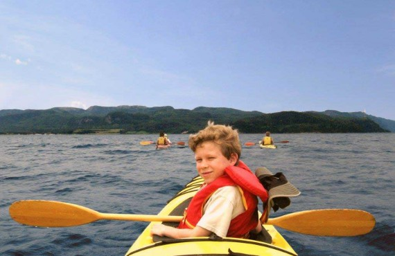 Kayak de mer en famille sur le fjord du Saguenay