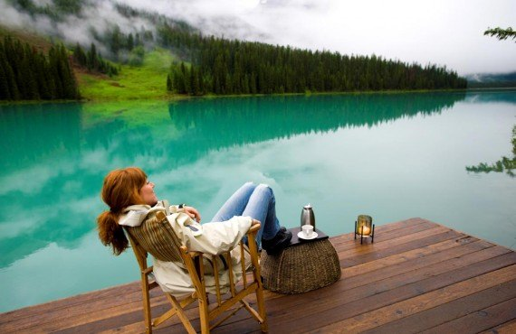 Relaxing at Emerald Lake Lodge