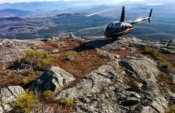 Survol en hélicoptère et goûter au sommet - Charlevoix