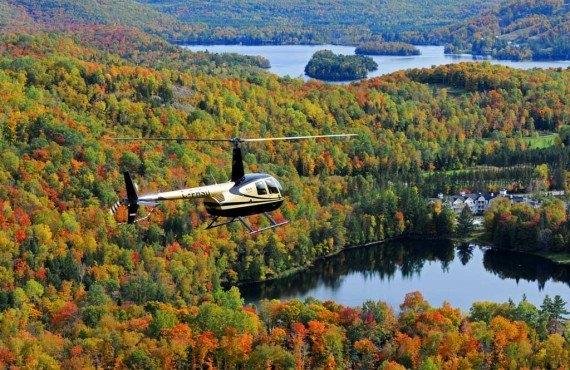 Survol de Tremblant en hélicoptère