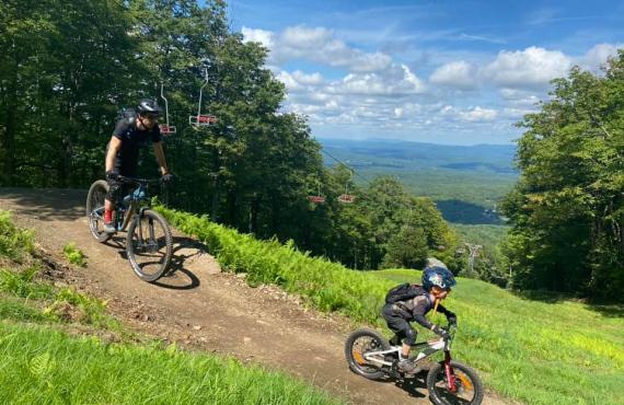 Vélo de montagne en famille