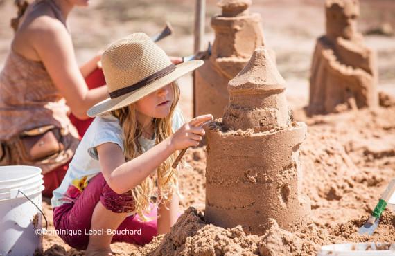 Atelier de châteaux de sable
