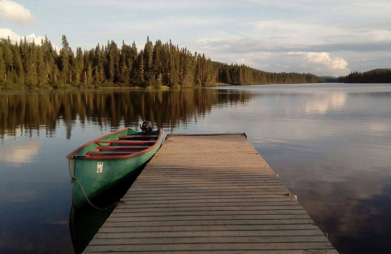 Pêche à la truite, Lac Edouard, QC
