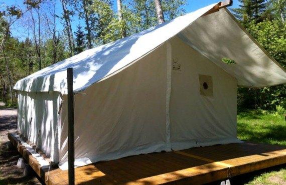 Camping de la Rivière Matane - Tente prospecteur