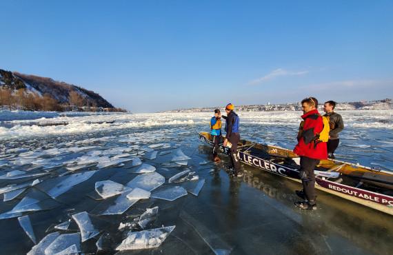 Canot à glace Québec
