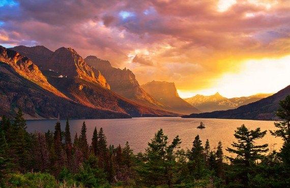 2-coucher-soleil-glacier-national-park