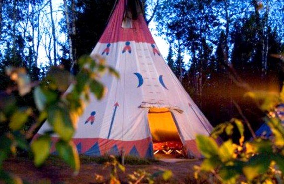 Sleep in a teepee at the Triton Outfitter
