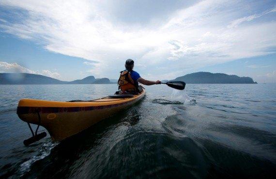 Sea kayaking in Bic National Park