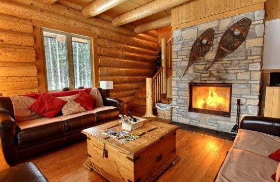 Ma Cabane au Canada -Salon du chalet le Castor