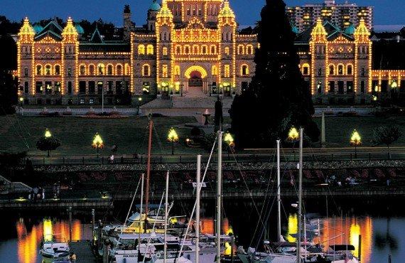 Marina Inner Harbour et le parlement de Victoria