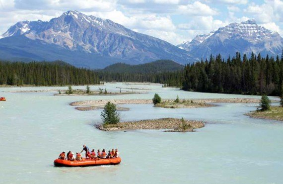 Rafting on the Athabasca - Jasper