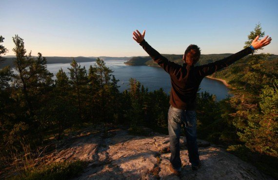 Hike to the top, Petit-Saguenay