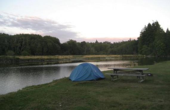 Camping near the river
