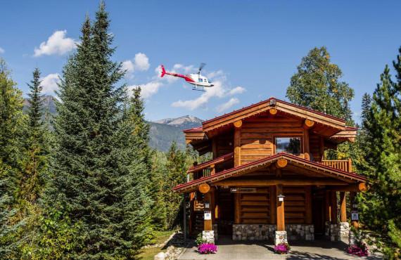 Round log cabin