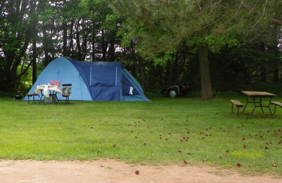 Tent on the campsite