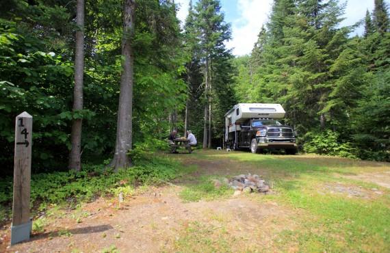 Emplacement sur le camping