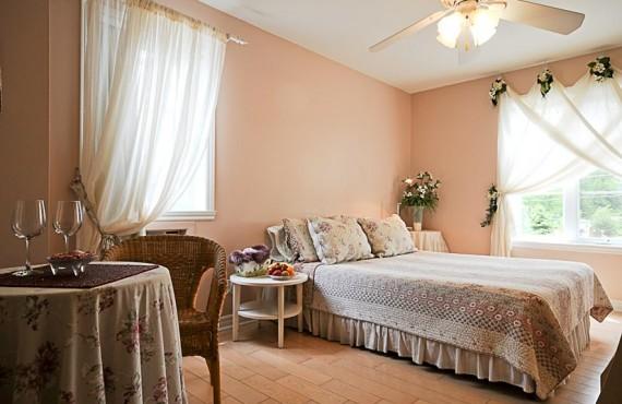 Gîte le Voyageur - Chambre rose